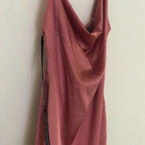 Cowl midi dress